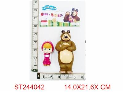 玛莎和熊2只庄,卡通人物